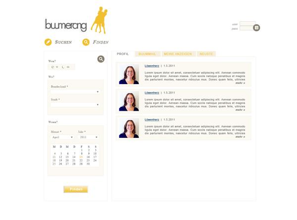 Kontaktportal Buumerang
